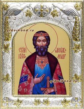 Князь Ярослав Мудрый, икона в ризе артикул 41409