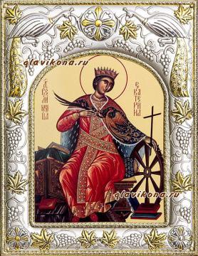 Екатерина великомученица, икона в ризе артикул 41542