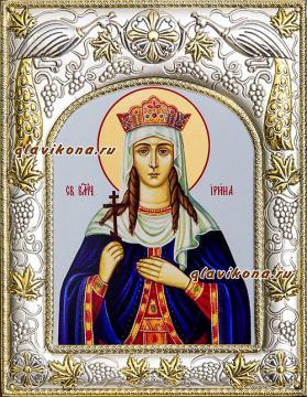 Ирина Македонская, икона в ризе артикул 41557
