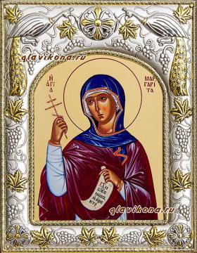 Маргарита Антиохийская, икона в ризе артикул 41540