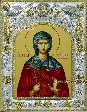 Марина Антиохийская, икона в ризе артикул 41563