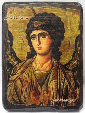 Архангел Гавриил, икона состаренная