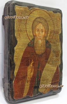Сергий Радонежский, икона искусственно состаренная