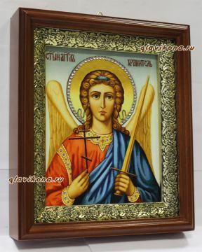 Ангел Хранитель (живописный), икона на холсте в широком киоте - вид сбоку