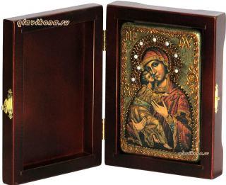 Владимирская Божия Матерь икона подарочная 10х15 см