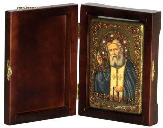 Серафим Саровский икона подарочная 10х15 см