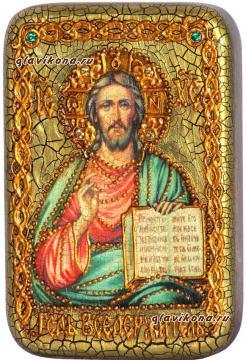 Вседержитель, икона с драгоценными камнями