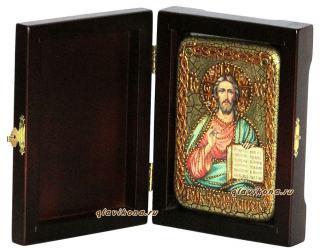 Господь Вседержитель икона подарочная 10х15 см