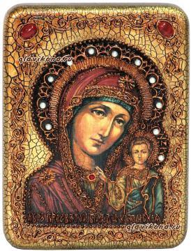 Икона Казанской, сделанная вручную