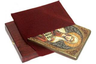 Татьяна Римская, большая подарочная икона, с камнями, на дубе