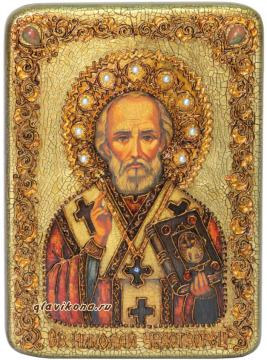 Николай Чудотворец икона под старину