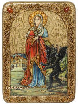 Икона Марины под старину с камнями
