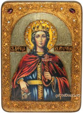 Екатерина, икона состаренная