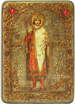 Борис страстотерпец, икона под старину