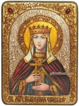 Людмила, икона подарочная под старину