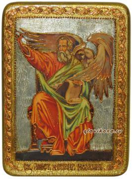Иоанн Богослов, подарочная икона под старину