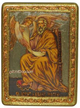 Апостол Матфей, подарочная икона под старнину