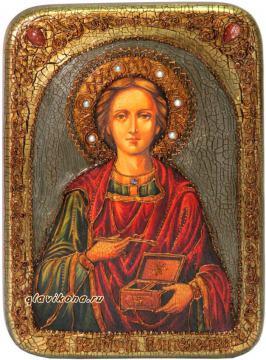 Пантелеймон, подарочная икона под старину