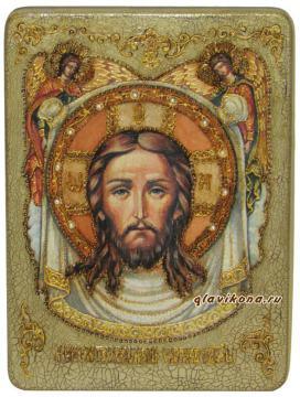 Спас Нерукотворный - подарочная икона под старину