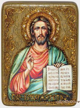 Икона Господа в подарочной коробке футляре