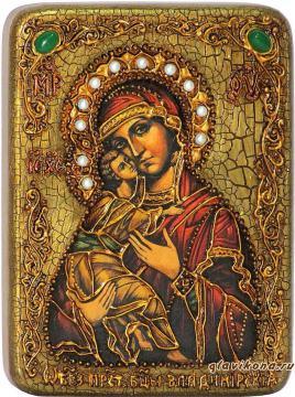 Владимирская Божия Матерь - икона подарочная