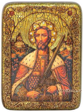 Александр Невский - икона подарочная