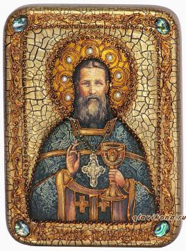 Иоанн Кронштадтский - икона подарочная