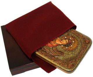 Ангел Хранитель (красные одежды) икона подарочная 15х20 см