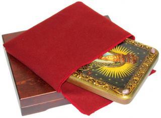 Остробрамская Божия Матерь икона подарочная 15х20 см