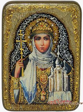 Святая Ольга, подарочная икона - другой вариант авторского оформления