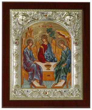 Троица - греческая икона в ризе