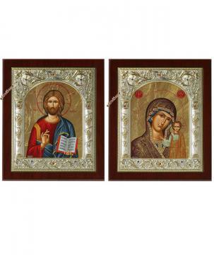 Венчальная пара икон серебряных