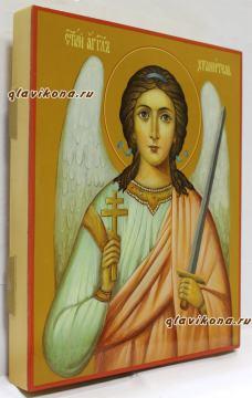 Рукописная икона Ангела Хранителям, артикул 710 - вид сбоку