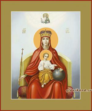 Державная икона Божией Матери с цветными полями