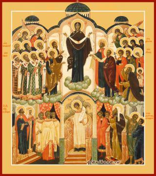 Покров Пресвятой Богородицы икона, артикул 90287