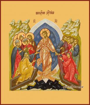 Воскресение Господа Иисуса Христа, печатная икона