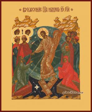 Воскресение Христово, копия старинной иконы, печатная икона