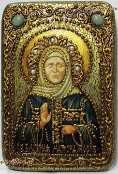 Икона Матроны со старением