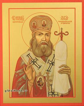Лука Крымский, печатная на дереве икона