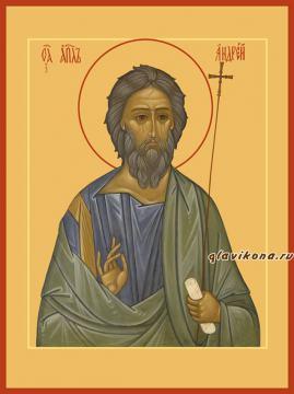 Андрей апостол, печатная икона на дереве