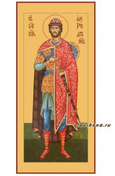 Александр Невский (ростовой), икона печатная