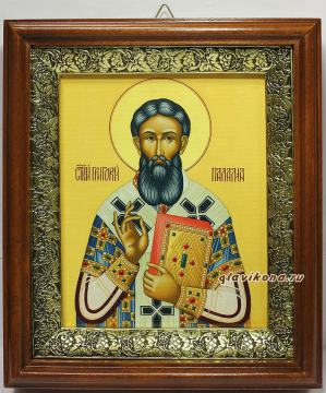Григорий Палама, икона на холсте в широком киоте
