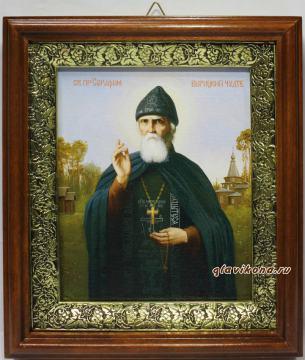 Серафим Вырицкий,, икона на холсте в широком киоте