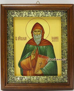 Иоанн Лествичник, икона на холсте в широком киоте