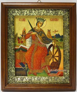 Великомученица Екатерина, икона на холсте в широком киоте