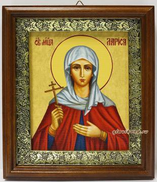 Мученица Лариса Готфская, икона на холсте в широком киоте