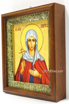 Мученица Лариса Готфская, икона на холсте в широком киоте - вид сбоку
