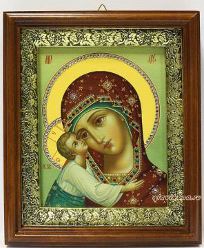 Игоревская Божия Матерь, икона на холсте в широком киоте
