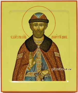 Дмитрий Донской, писанная икона артикул 6108