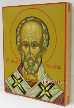 Николай Чудотворец, икона артикул 6110, вид сбоку